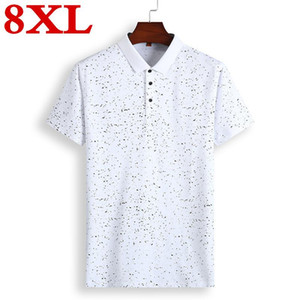 Summer 8XL 7XL plus size Guitar Printed Stand Collar Shirt Short Sleeve Casual Men Shirts Homme Cotton Mens Polos
