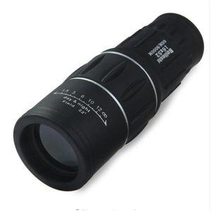 16 x 52 Çift Odak Monoküler Teleskop Yakınlaştırma Optik Lens Dürbünler Spotting Kapsam Kaplama Lensler Çift Odak Optik Mercek Gündüz Görüş