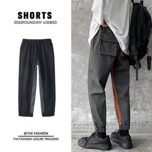 Мужские брюки весенние летние спортивные штаны Мужская мода контрастный цвет ретро повседневная мужская улица корейский свободный груз M-5XL