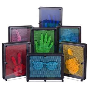 Дети смешные игрушки пластиковые 3d diy модель антистресс клон отпечатков пальцев иглы слизь ручная плесень детские образовательные игрушки подарок падение q0115