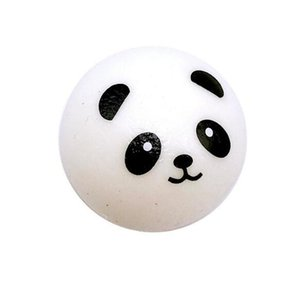 7CM Squishy Panda Bun Stress Reliever Ball Slow Rising Decompression Toys PU Key chains Keychain Kids Toys