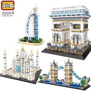 LOZ MINI blocs de construction tour de renommée mondiale classique Architecture / al cadeau burj collection arab pour les enfants exposition de jouets C1115 diy