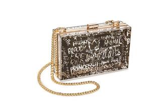 HBP luxury fashion Single Shoulder Bag Messenger Bags acrylic wallet gold detachable shoulder belt Dinner Bag hand bag