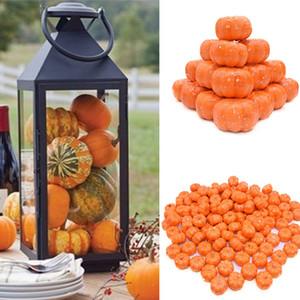 Fake 25Pcs Mini Artificial Pumpkin Simulation Vegetabl Happy Decoration For Home Halloween Props DIY Crafts