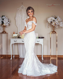 2021 Arabic Aso Ebi Plus Size Luxurious Lace Beaded Wedding Dresses Mermaid Sexy Bridal Gowns Designer Marriage Gowns