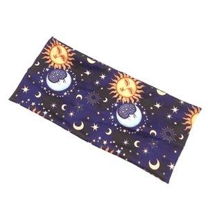 بنات القمر الشمس طباعة الشعر Hairband على نطاق واسع اليوغا العصابات العصابة مطاطا الشعر للنساء اكسسوارات الشعر