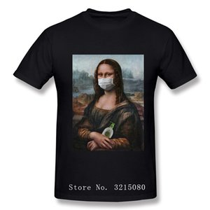 Mona Lisa Mask Parody Aesthetic Tshirts Vintage MICHELANGELO Art Funny T-Shirts for Men 2020 Popular T Shirt 100 Cotton