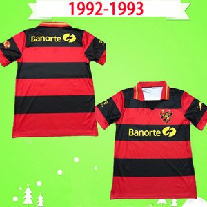 Retro 1992 1993 Sport Recife Jerseys de fútbol Classic Sport Club Do Recife Football Shirts Inicio Rojo Negro 92 93 Vintage Camiseta de Futbol