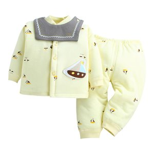 2020 Baby Clothes Set Winter Warm Long Sleeve Newborn Pants Clothes 2PCS Cotton Baby Pajamas Unisex Clothing