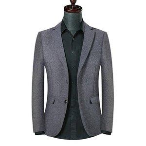 Spring Autumn Men Grey Woolen Suit Jacket Long Sleeve Top Male Casual Oversized Wool Slim Fit Blazer Boys Business Suits 3xl 4xl