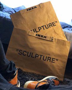 Nome congiunto in edizione limitata Markerad Tote Moving Shopping Bag Stoccaggio Kraft Paper Bags Brown Fashion Star Stem Style Borse da uomo e donna
