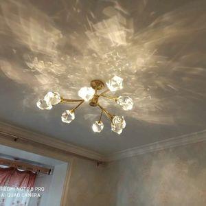 Chandelier for Living Room Bedroom Dining Room Kitchen Decor Modern Luxury LED Crystal Pure Copper Ceiling Indoor Lighting