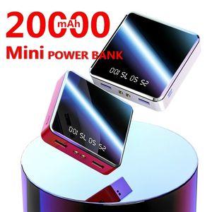 20000MAh Power Bank Portable USB Battery Charger Mobile Power External Battery Mobile Power for iPhone X Samsung Xiaomi Huawei Free