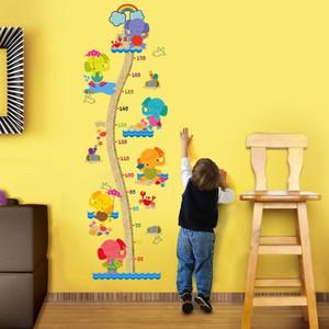 Wall DIY habitación del bebé pegatina de vinilo 3D Wallpaper auto adhesivo del papel pintado Medición de la altura de PVC Fondos de Escritorio Hd habitación Calcomanías 201009