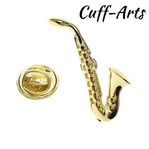 Pin a risvolto per uomo Sassofono Gold Gold Bavero Pin Pin Pride Spilla Hijab Pins Smalto Broche con confezione regalo di Geffarts P102271
