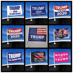 USA General Election Trump Flag National Stars Stripes Cars Window Decorate Flags Keep America Great Again Banners With Flagpole 5 99qt F2