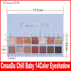 CmaaDu 14 Farbe Nude-glänzende Lidschatten-Paletten-Verfassung Glitter Pigment Smoky CHILL BABY Lidschatten-Palette wasserdichte Kosmetik