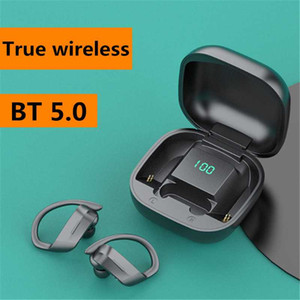 Bluetooth Earphones 5.0 Wireless Headphones TWS LED Display 9D Stereo Sports Music Gaming Ear Hook Headsets With Charging Case