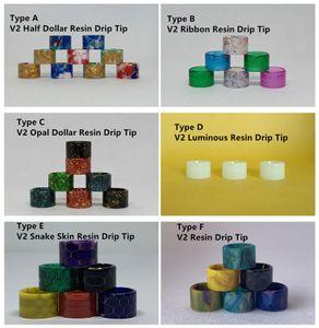 New Arrival V2 Ribbon Luminous Snake Skin Resin Drip Tip With Candy Package For TFV8 Baby V2 Stick V9 Max TFV16