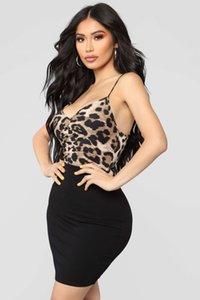 Mulheres Sexy Bodysuits Leopard Imprimir Sling Sem Mangas Bodysuit Jumpsuit Romper Leotard Top Plus Size