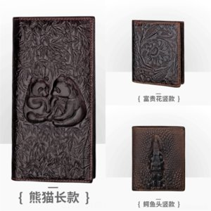nr2S GorgeousConcise luxury mens wallet New Men's Cowhide Mix Crazy Layer Wallet Horsehide Dollar .