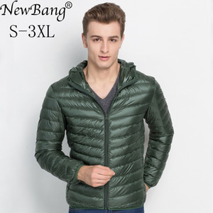 NewBang Brand Mens Down Jacket With Hood Ultra Light Down Jacket Men Winter Feather Parkas For Men Windbreaker Plus Down Coat 201022