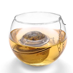 Hot Stainless Steel Tea Pot Infuser Sphere Mesh Tea Strainer Ball Supplies free shipping GWD2593