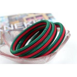 2020 Gomma piatta a base della Corea Bandiera rossa e verde a righe a righe a righe Stampato Anello Equipaggiamento Anello Elastico Accessori per capelli Elastico Veloce DeLive