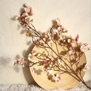 Artificial Cheery Branch Manicure Finger Cherry Trees Plastic Wedding Decoration Ceiling Flower Floor Flower Arrangement Artific