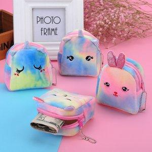 Coin Doll Mini Backpack Unicorn Plush Purse Bags For Cash Pouch Chain Zipper Wallets Cat Key Small Dollar Gifts Cute Girls Vldhq