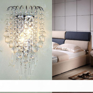 Bedside Crystal Wall Lamp Modern Mirror front Bedroom Living Room Wall Light Home Indoor Lighting Decoration