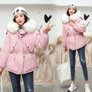 Hot Sale New jacket winter with big fur collar winter coat women parkas Loose Clothes with Hats and Large Size