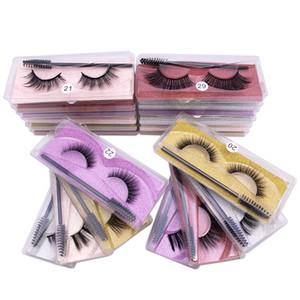 Hot New Natural False Eyelashes Soft Light Fake 3D Mink Eyelash Eyelash Extension Mink Lashes With Eyelash Brush Makeup