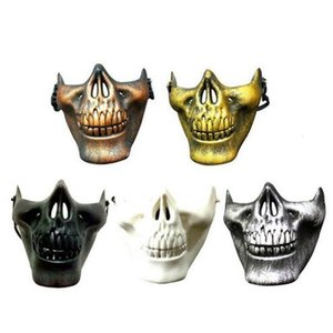 Scary Carnival Gift 2019 Hot Cs Skull Skeleton Paintball Lower Half Face Facemask Warriors Protective Halloween Party Mask Gb1200