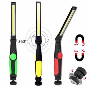 Pivotée Pliable COB portable torche USB rechargeable LED Lampe de travail magnétique COB Lantern Spotlight Portable