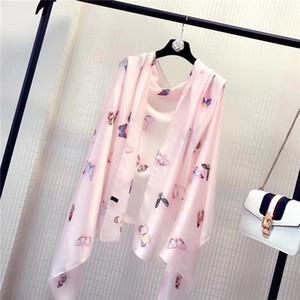 2021 Autumn new silk print scarves Korean version of broken travel sunblock flower scarves beach scarves women