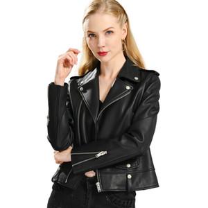 Spring Genuine Leather Jacket Women Fashion Real Sheepskin Coat Rivet Motorcycle Biker Jacket Female Sheep Leather Coat 201019