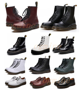 [Enviado dentro de 6 dias] dr + martens Classic 1460 Boot Ankle Alta Plataforma Doc Crystal Sole Martin Fox Mens Womens + Fur Man Martins Fox Boots 36-46