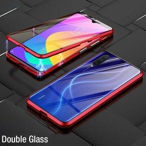 Absorción magnética de lujo Vidrio templado de doble cara para Xiaomi MI 9 MI9 SE Metal Teléfono Funda Atrás Funda XIAOMI9 MI9SE H JLLMKR
