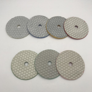 Diamond Dry Polishing Pad 4 inch 100 mm Circle Polishing Wheel Granite Marble Polish Pads Grinding Disc 7 Pcs lot