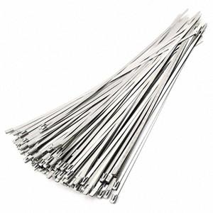العادم 50PCS 4.6X300Mm الفولاذ المقاوم للصدأ الأنابيب المغلفة التفاف قفل الكابل الرمز العلاقات الذاتي قفل الفولاذ المقاوم للصدأ الكابل التعادل h3ij #