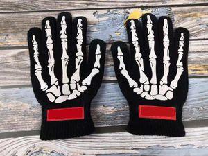 2020 Unisex Women y Mens Gloves Street Nueva Moda Guantes de Invierno Halloween Especial de High-Densit Material de punto Touch Pantalla Táctil Guantes