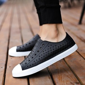 New Frank Native Men Summer Clogs Sandals Couple Slip-proof Soft Sandalias Hombre Adult Hollow-out Beach Shoes Waterproof 36-45 Y200107