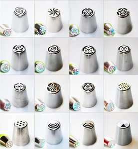 Pastry Nozzles Tips Russian Icing Piping Nozzles Rose Flower Cream Pastry Nozzles Cake Decoration Tips Pastry Tool 68 Designs BWA1052