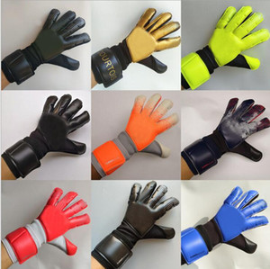 2020 New Goalkeeper Gloves Wrapped wrist strap Professional Soccer Gloves Anti-slip Gloves-latex plam Sports Gloves AD15