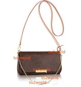 Real Leather 40718 Favori Preferito Borsa di lusso Moda Crossbody Donne Borsa Design preferito Catena di design Cinturino in pelle frizione