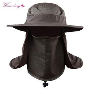 Cloches Summer Unisex Bucket Hats Outdoor Fishing Hiking Wide Brim Hat UV Protection Cap Sombrero For Men Women