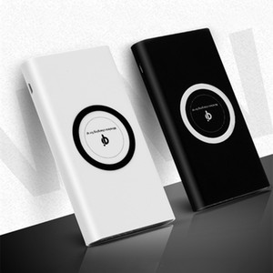 20000mAh Portable External Battery Power Bank Qi Wireless Charger Powerbank for iPhone X 8 plus Samsung S10 S9 S8 Poverbank Free Shipping
