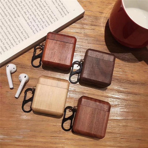 New Best Selling Madeira Airpods Cases para a Apple fone de ouvido sem fio de madeira da tampa AIRPod protetora de madeira Caso Fábrica