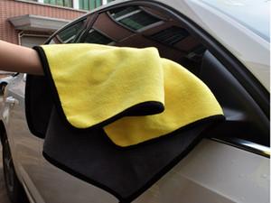 toalha de lavagem de carro espessada com absorvente coral toalha lã de lavagem de carros de duas cores de dupla face de alta densidade toalha de lavagem de carro